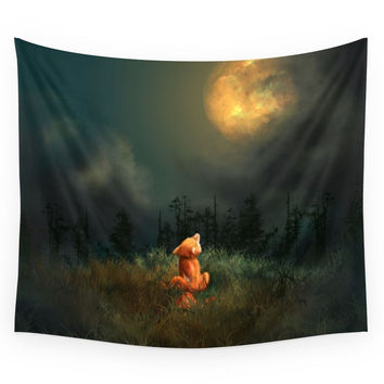 Society6 Fox Wall Tapestry