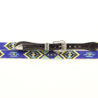 M&F Western Aztec Beaded Hat Band Black