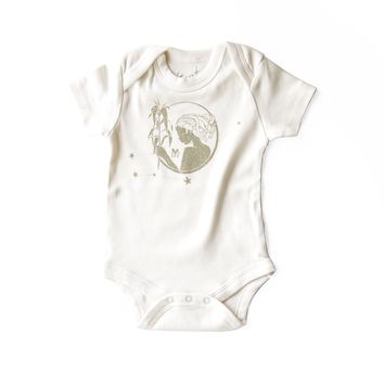 Virgo Organic Baby Bodysuit in Natural [August 23 - September 22]