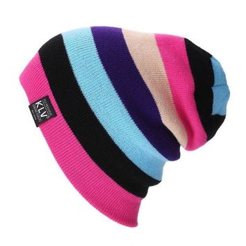 PEAPU3S 2016 Brand Bonnet Beanies Knitted Winter Caps Skullies Winter Hats For Women  Outdoor Ski Sports rainbow Beanie Gorras Touca