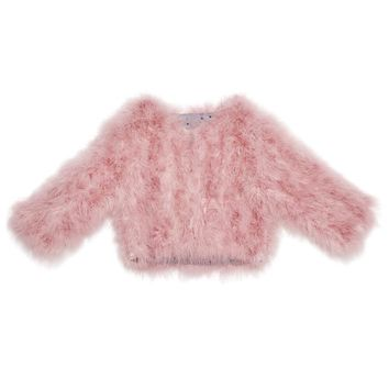 Tutu Du Monde Evija Marabou Coat in Rose