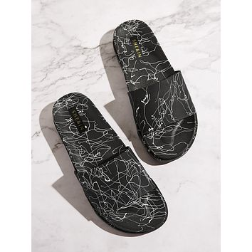 Abstract Open Toe Sliders