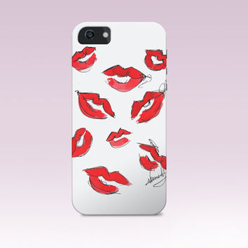 Kisses iphone case,lips iphone case, love iphone case, Iphone Case, Iphone 6 case , Iphone 5 case, Iphone 4 case, custom iphone cover