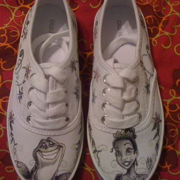 Princess and The Frog Custom Made Shoes For Kids 4b072ab28