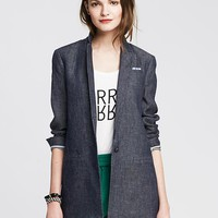 Banana Republic Womens Linen Boyfriend Blazer
