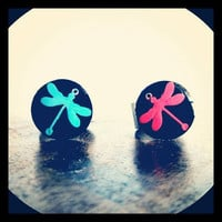 Hot Summer Fashion Trends Dragonfly Resin Adjustable Ring Blue Frost Mint & Candy Blazed Pink