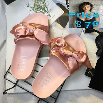 Original wms Puma x Fenty Leadcat Jelly Platform  slide sandals light pink sneaker
