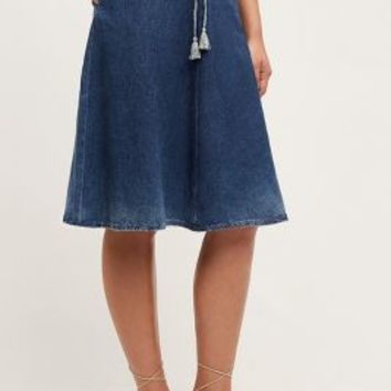 AG Heritage Denim A-Line Skirt in Prairie Size:
