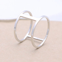 925 sterling silver  H ring