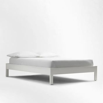 Simple Bed Frame - White