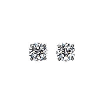 0.50tcw Round Diamonds in 14K White Gold Solitaire Stud Earrings