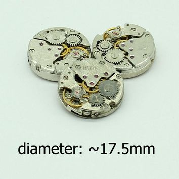Free shipping 3pcs/lot Old Mechanical Watch Movements Steampunk Vintage Jewelry Making Parts