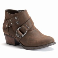 SONOMA life + style Women's Harness Ankle Boots (Black)