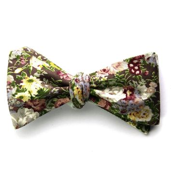 Bailey - Floral Gingham Bow Tie