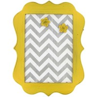 Yellow, White & Gray Chevron Message Board | Shop Hobby Lobby