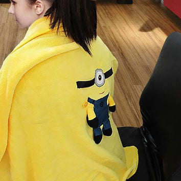 Minion Cushion Blanket