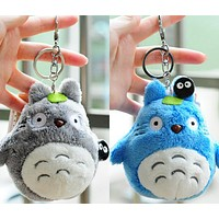 Mini 10cm , my neighbor totoro plush toy 2017 New kawaii anime totoro keychain toy , stuffed plush totoro doll