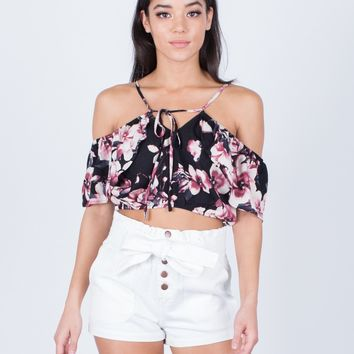 Floral Printed Crop Top