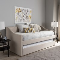 Baxton Studio Kallikrates Modern Daybed with Trundle Bed