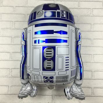 XXPWJ Free shipping Star Wars Globos R2-D2 Foil Balloons Party Supplies Helium Balloons Kids Toys Gifts