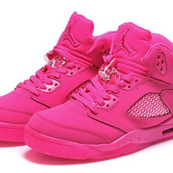 Womens Air Jordan 5 Girls Size All Pink Jordan 5 Gs Pink - Beauty Ticks
