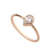 14K Solid Gold, Pear Ring, Pear Diamond Ring, Pear Engagement Ring, Pear Cut Engagement Ring, Rose Gold Ring, Unique Engagement Ring