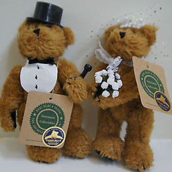 Retired 2 Boyds Bear & Friends Investment Collectibles Bride & Groom Bear