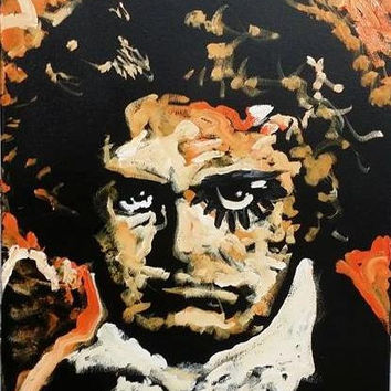 Beethoven Clockwork Orange 16x20 Pop Art Painting Urban Art Classical Music Art Industrial Art