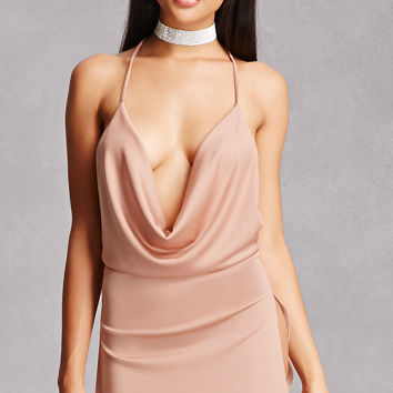 Draped Halter Dress