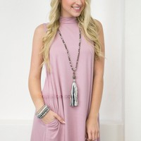 Bamboo Pocket Dress | Dusty Pink