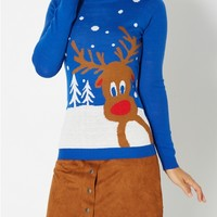 Token Reindeer Ugly Christmas Sweater