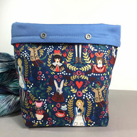 Alice in Knitting Wonderland Project Bag - Snap GoGo