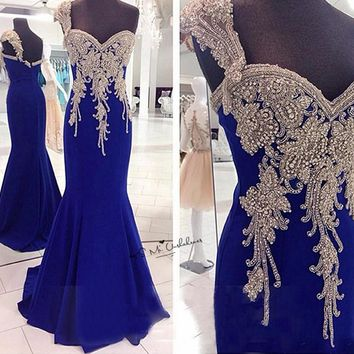 One Shoulder Crystals Luxury Prom Dresses Long for Women 2018 Mermaid Formal Evening Gowns Chiffon Vestidos de Formatura Pageant