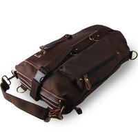 Backpack Men Leather Casual Travel Bags [6542342979]