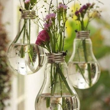 Vintage Vase made from Recycled Light Bulb