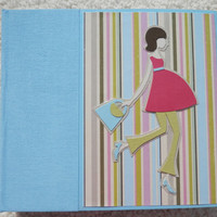 6x6 Chipboard Premade Pregnancy Scrapbook Album