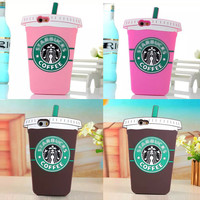 Starbucks Silicone Back Cover For iPhone 5 5S 5c 6 6 plus