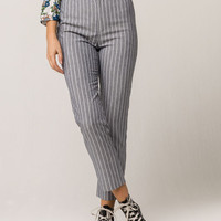 IVY & MAIN Blue Stripe Womens Crop Pants