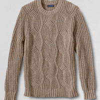 Men's Meridian Shaker Cable Crewneck Sweater from Lands' End