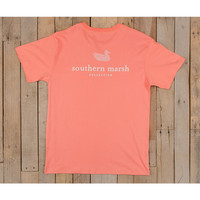 Southern Marsh Authentic Tee- Azalea