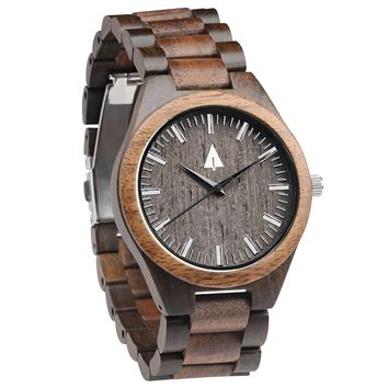 All Wood Watch // Ebony + Walnut 31