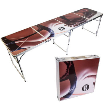 Can't Stop Party Supplies Portable Tailgating Beer Pong Table Easily Foldable...