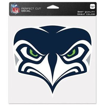 "SEATTLE SEAHAWKS SECONDARY LOGO 8""X8"" COLOR DIE CUT DECAL BRAND NEW WINCRAFT"