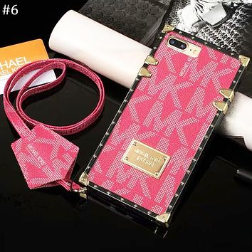 MK tide brand lanyard female models iphonex all-inclusive shatter-resistant protective cover #6