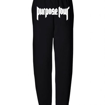 "Justin Bieber ""Purpose Tour"" REAR Unisex Adult Sweatpants"