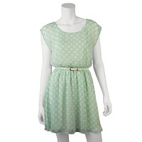 IZ Byer California Polka-Dot Chiffon Dress - Juniors