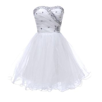 Short Black White Cocktail Dresses Masquerade Prom Ball Gown Special Occasion Cocktail Party dresses Girls Homecoming Dress