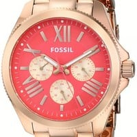 Fossil Women's AM4559 Analog Display Analog Quartz Rose Gold Watch