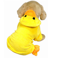 Dog clothes yellow duck design Clothes for dogs Halloween duck Designer cotton dog costume for chihuahua yorkshire