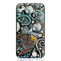 Cool Summer Breeze in the Ocean Beach Collection: iPhone4/4s Case with Embossment- The Fish
